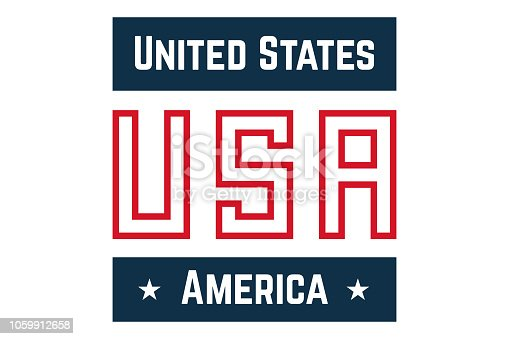 istock Logo United States of America, USA emblema with the stars 1059912658
