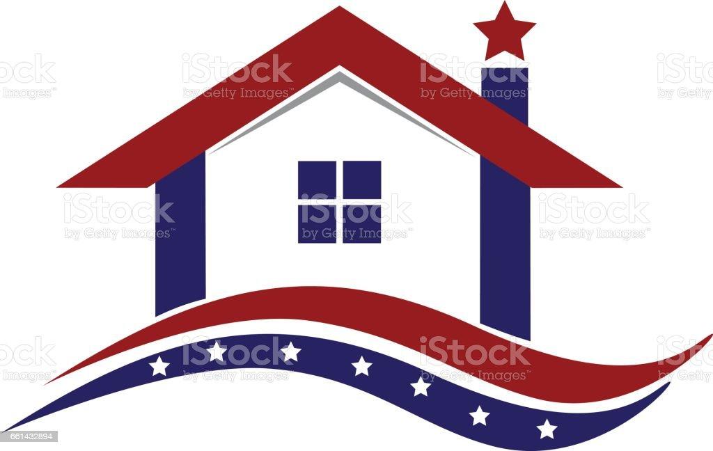ロゴ米国愛国家 ベクターアートイラスト