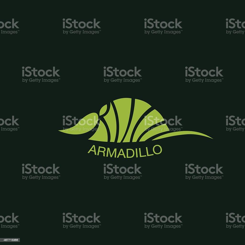 ARMADILLO logo vector vector art illustration