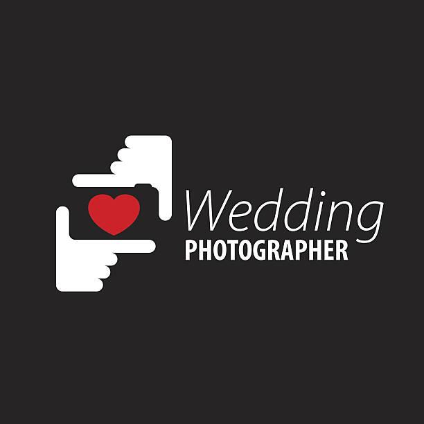 logo wedding photographer - wedding photographer stock illustrations