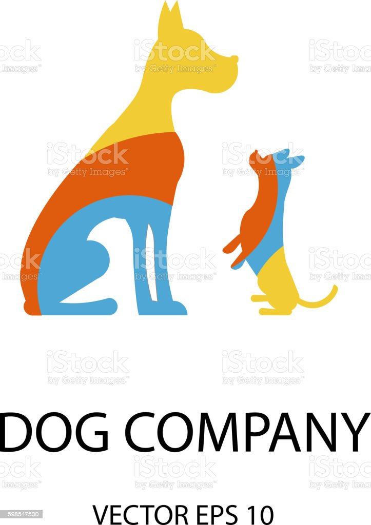 Logo with a dogs logo with a dogs – cliparts vectoriels et plus d'images de affaires libre de droits