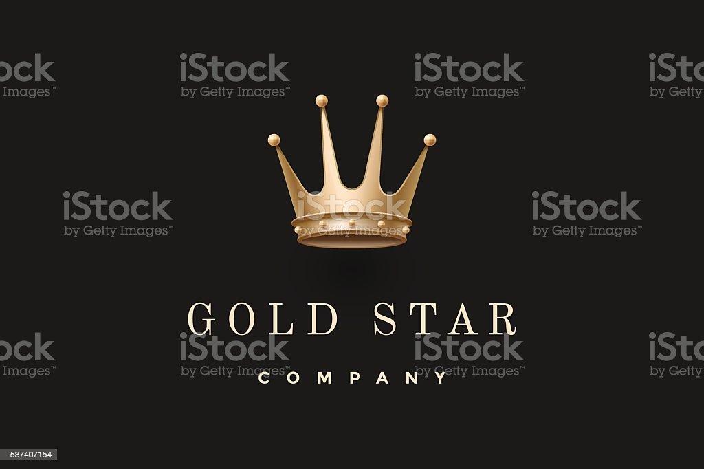 Ilustración de Logotipo Con Cama Rey Y De La Inscripción De Corona ...