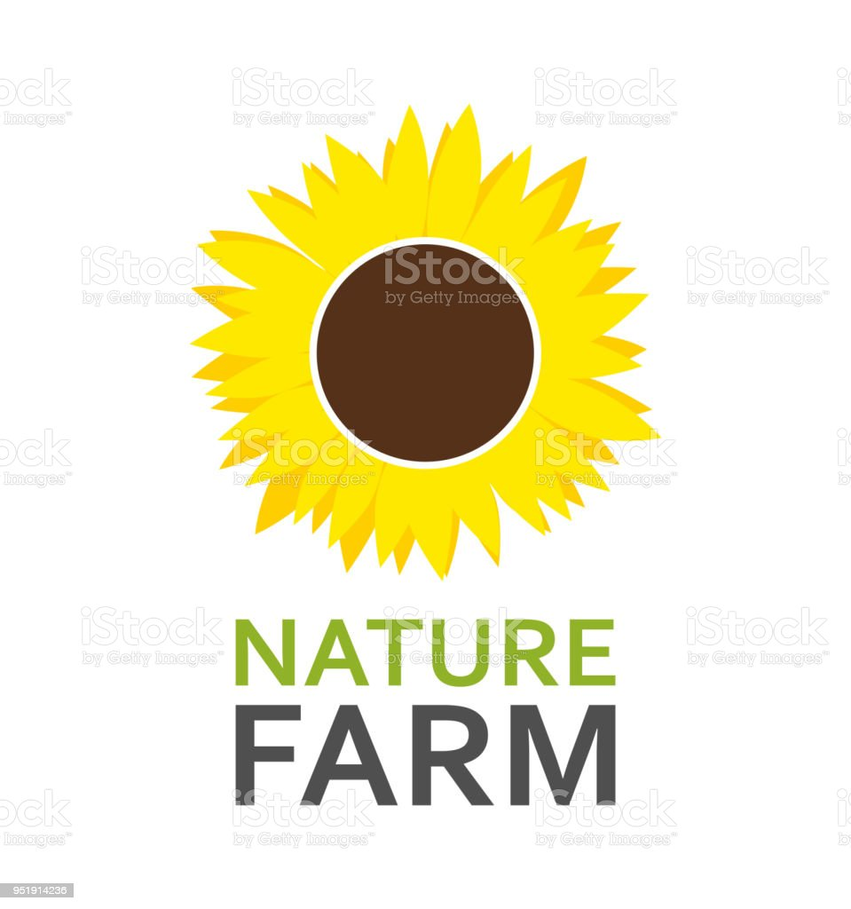 Logo With Sunflower Stock Vector Art More Images Of Design