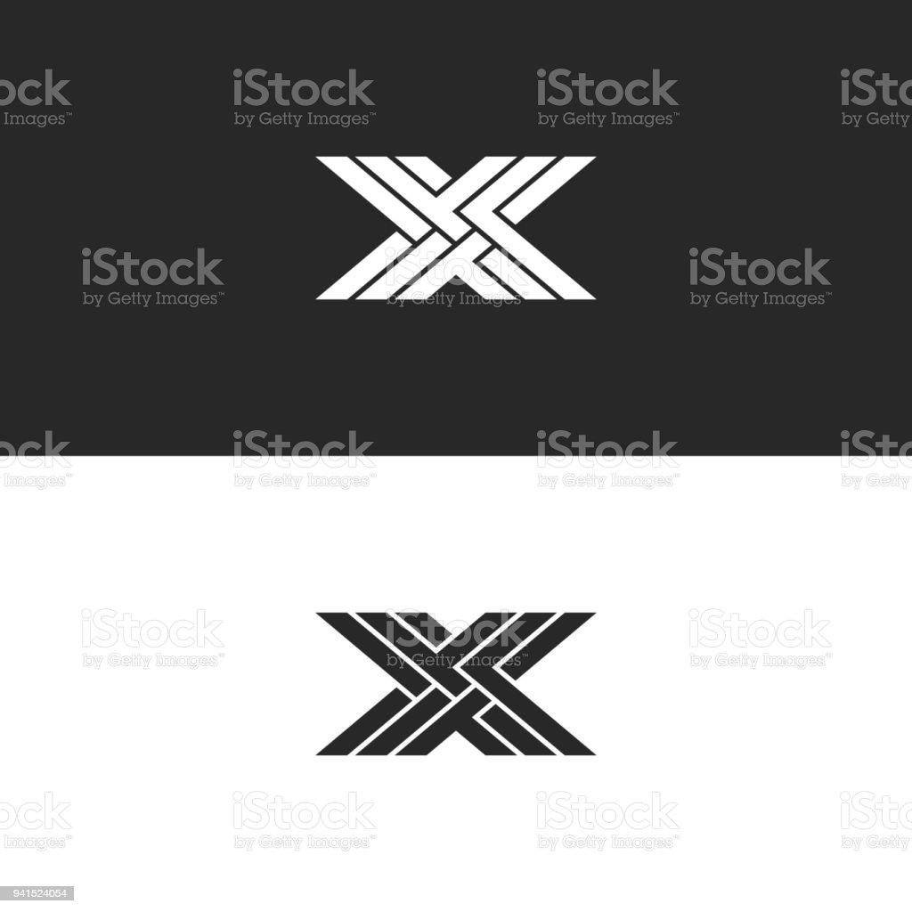 Lettre Majuscule X Logo Monogram Emblme Linaire Initiale Didentit Pour Carte De Visite