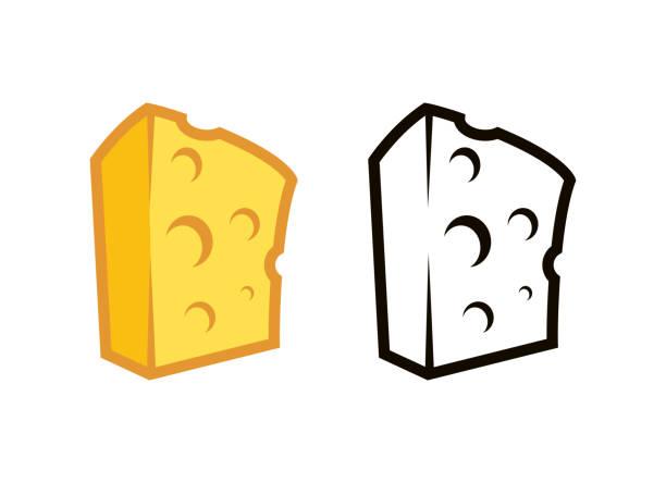 illustrazioni stock, clip art, cartoni animati e icone di tendenza di logos of cheese premium quality - maasdam