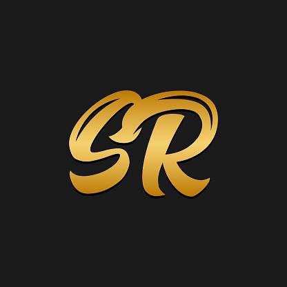 Sr Logotype Company Letter Design Vectorsr Monogram Logo Design Stock Illustration Download Image Now Istock