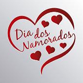 Logotype of Brazilian Valentine's Day (dia dos namorados)
