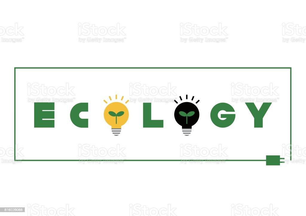 Logotype of ecology(power saving) vector art illustration