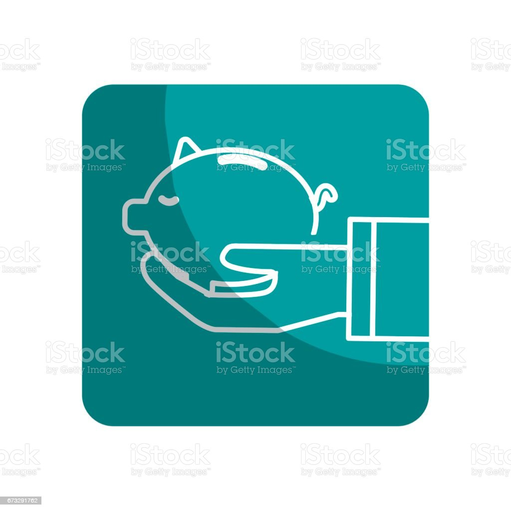 logotype save pig in the hand royalty-free logotype save pig in the hand stock vector art & more images of bank