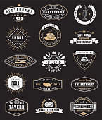 Logotypes and badges for restaurant