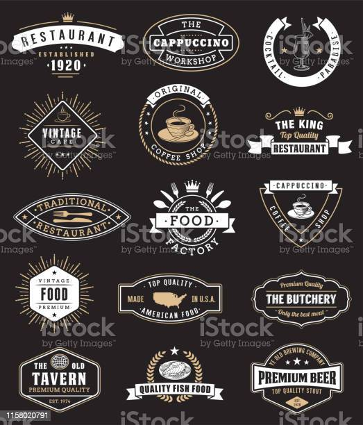 Logotypes and badges for restaurant vector id1158020791?b=1&k=6&m=1158020791&s=612x612&h=lxio ka2lhccciut7hqjxc ddrqe9tm11 wo9r z05e=