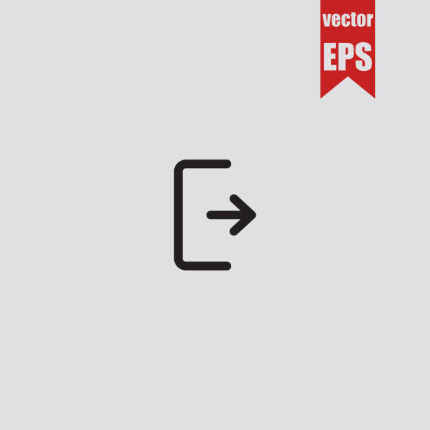 logout icon.vector illustration. - white background stock illustrations