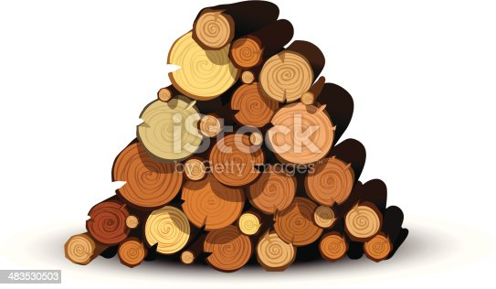 istock Logs in a logpile 483530503