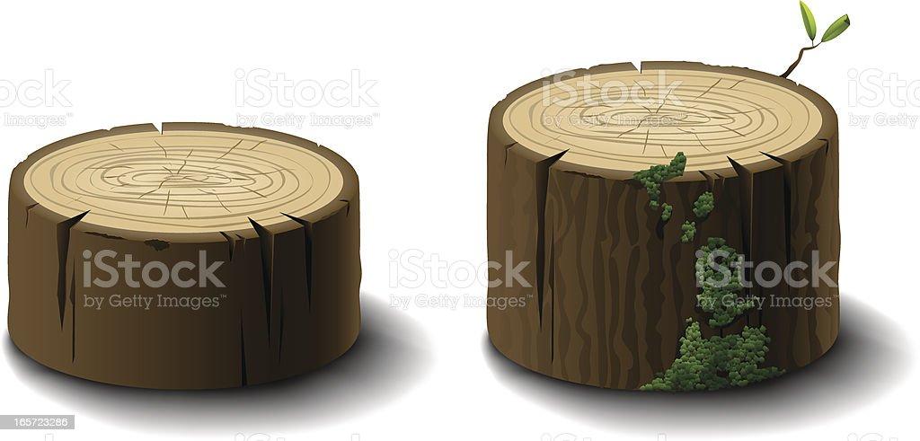 Logs or Tree Stumps vector art illustration