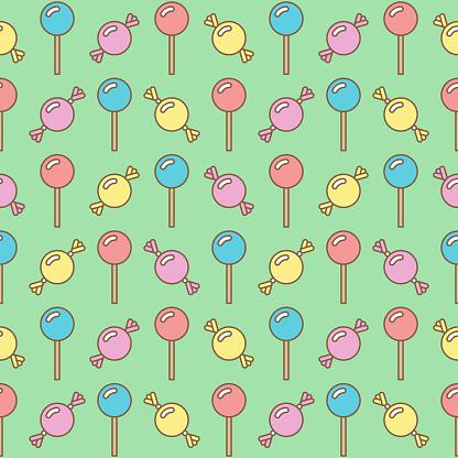 lollipop candy seamless pattern