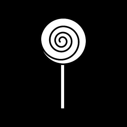 Lollipop dark mode glyph icon