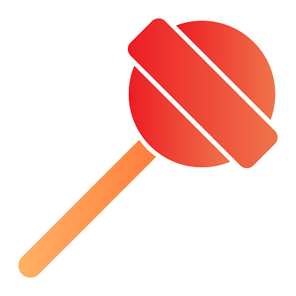 Lollipop on stick flat icon. Sweet food color icons in trendy flat style. Candy stick gradient style design, designed for web and app. Eps 10.