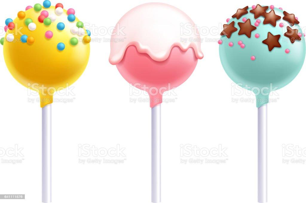 lollipops cake pops set vector illustration stock vector art more images of backgrounds. Black Bedroom Furniture Sets. Home Design Ideas