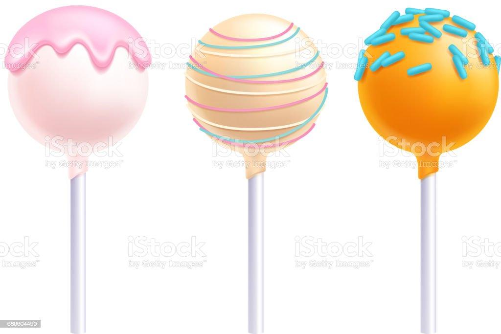 Lollipops cake pops set vector illustration vector art illustration