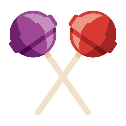 Lollipops Icon on Transparent Background