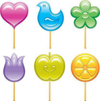 Lollipops icon set