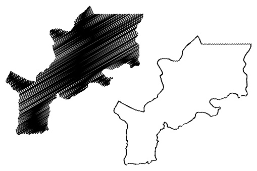 Lomami Province map vector
