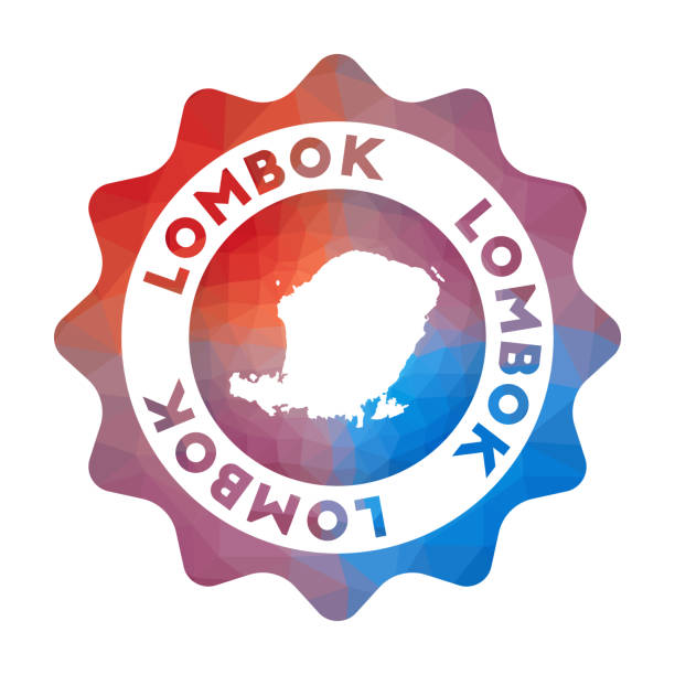 lombok low-poly-logo. - lombok stock-grafiken, -clipart, -cartoons und -symbole