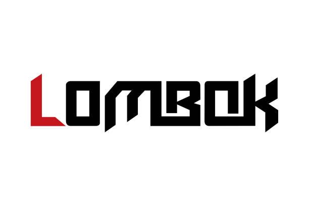 lombok typografie design vektor für t-shirt, poster und andere verwendungen - lombok stock-grafiken, -clipart, -cartoons und -symbole
