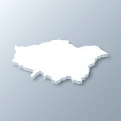 istock London 3D map on gray background 1341394929