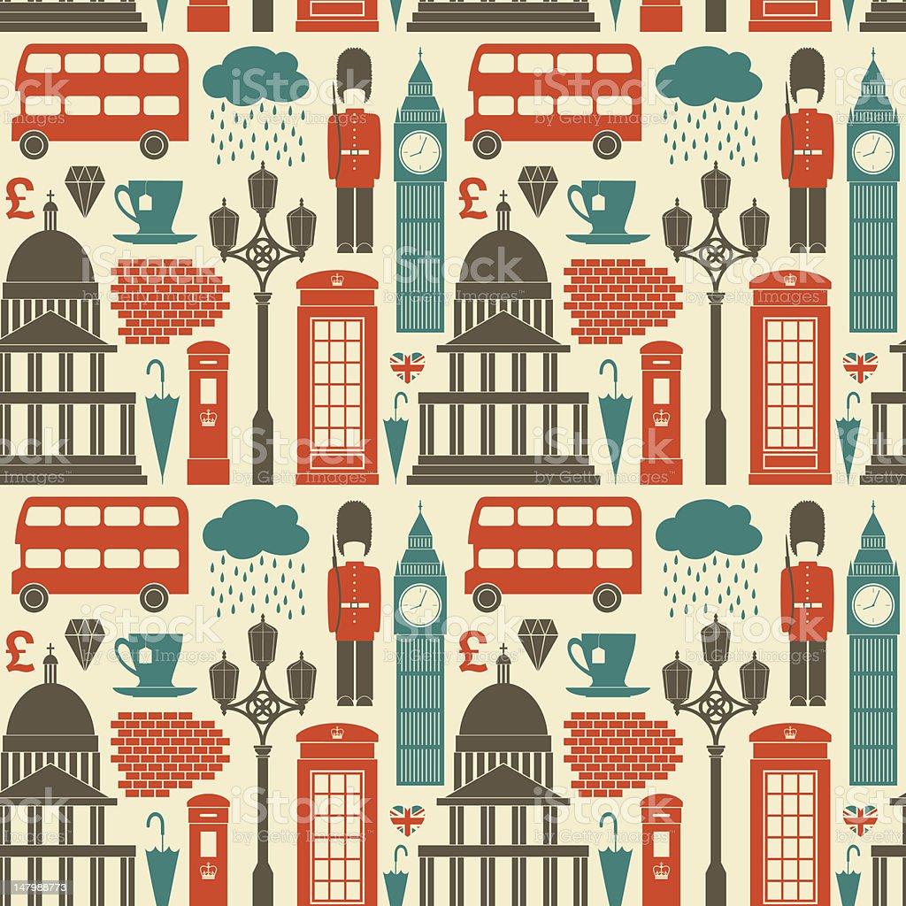 London Background vector art illustration
