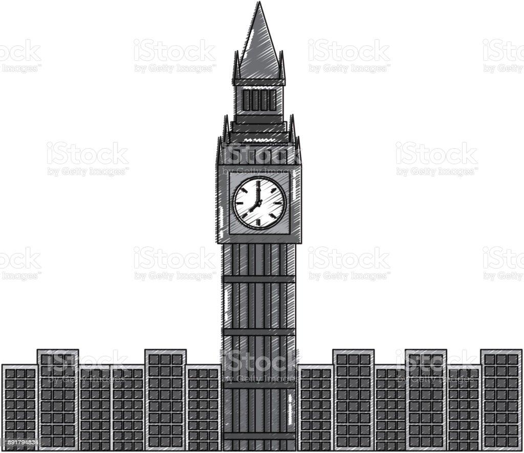 london big ben clock tower famous building city stock vector art rh istockphoto com