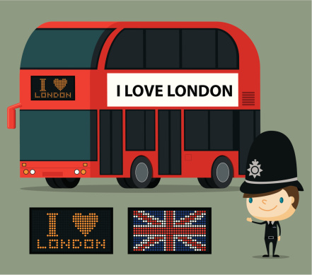 London Bus and Officer
