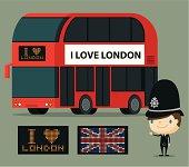 A set of London symbols. Zip contains AI and hi-res jpeg.
