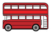 Abstract London bus icon or sign, vector illustration