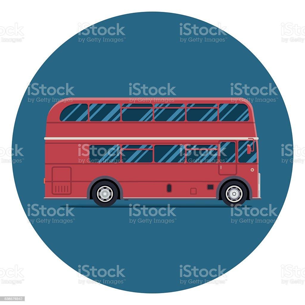 Лондон автобус зывая интенсивность транспорта. Современный Плоский дизайн векторная иллюстрация