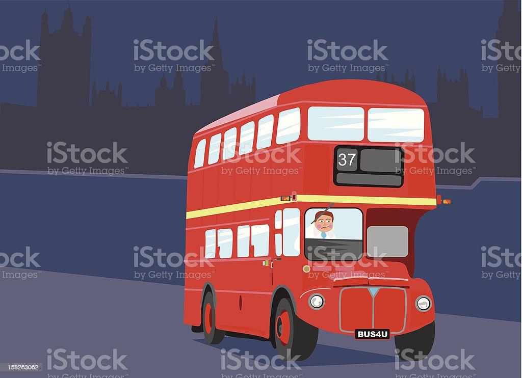 Londres en Bus - Illustration vectorielle