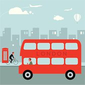Vector illustration of a London bus