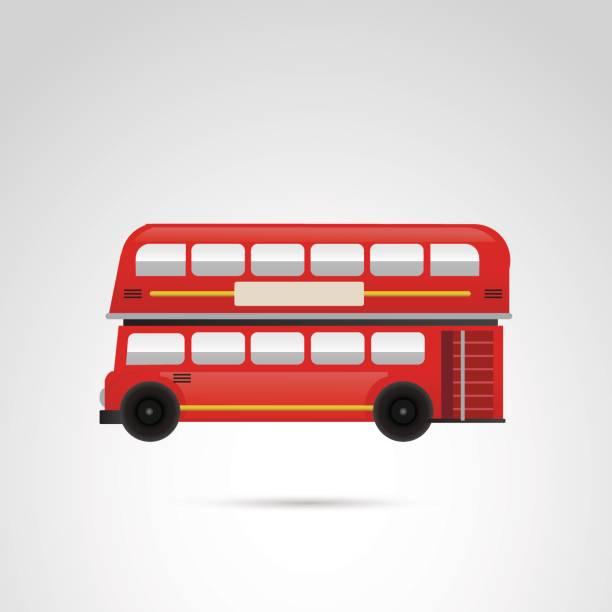 london bus-vektor-illustration. - tour bus stock-grafiken, -clipart, -cartoons und -symbole