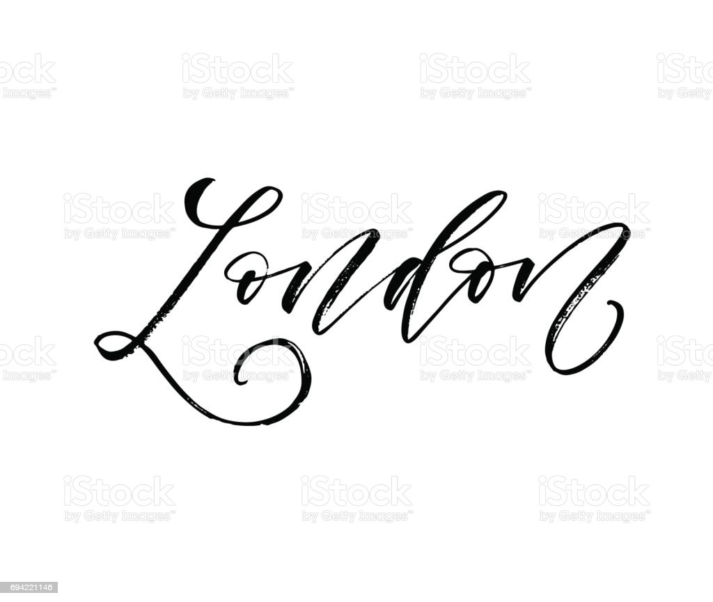 London card. vector art illustration