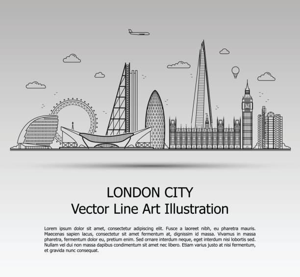 ilustrações de stock, clip art, desenhos animados e ícones de london city gray - londres