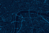 Geographical/Road map of London, UK