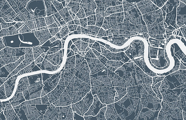 ilustraciones, imágenes clip art, dibujos animados e iconos de stock de mapa londres ciudad - viaje a reino unido