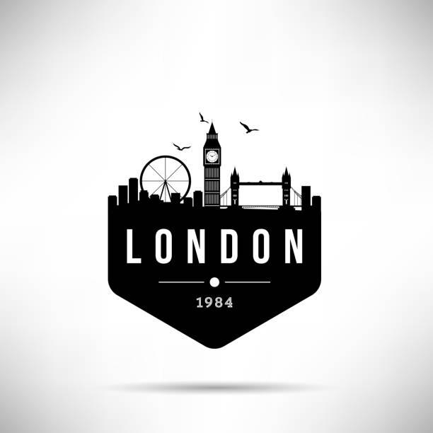 ilustrações de stock, clip art, desenhos animados e ícones de london city modern skyline vector template - londres