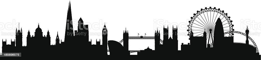 royalty free london skyline clip art, vector images & illustrations