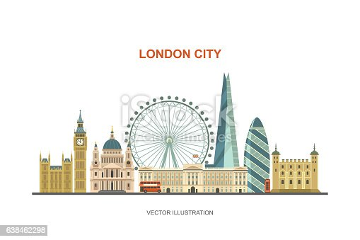 London City Skyline Stock Vector Art & More Images of ...