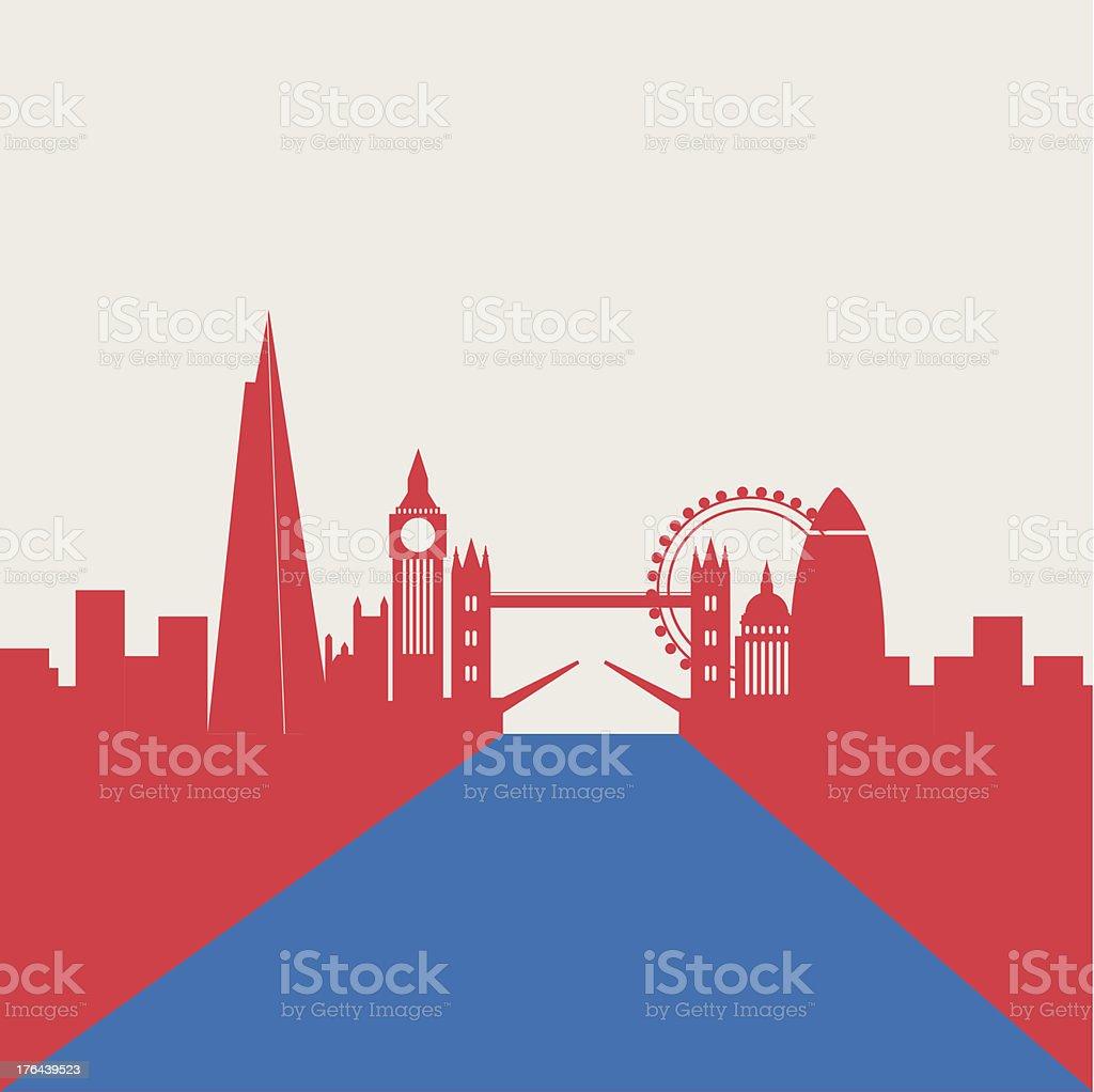 London city vector art illustration