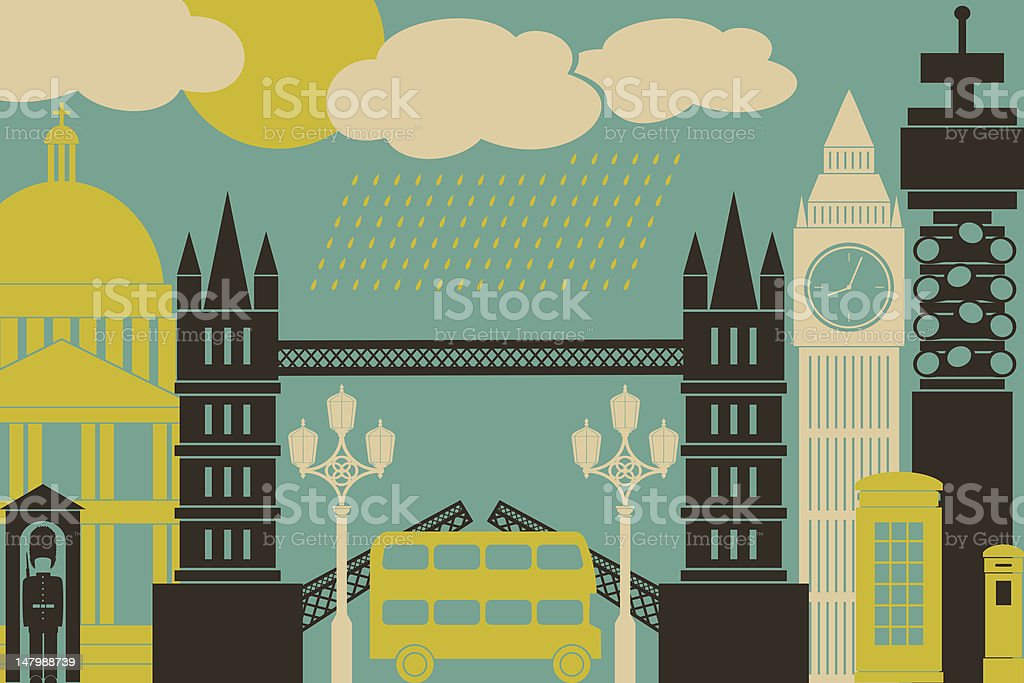 London Cityscape royalty-free london cityscape stock vector art & more images of armed forces