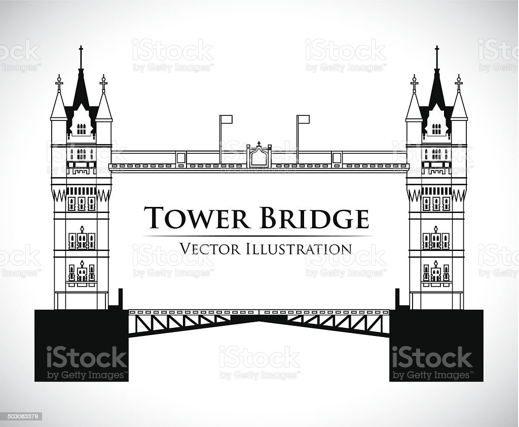 London design vector art illustration