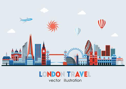 London detailed Skyline. Vector illustration
