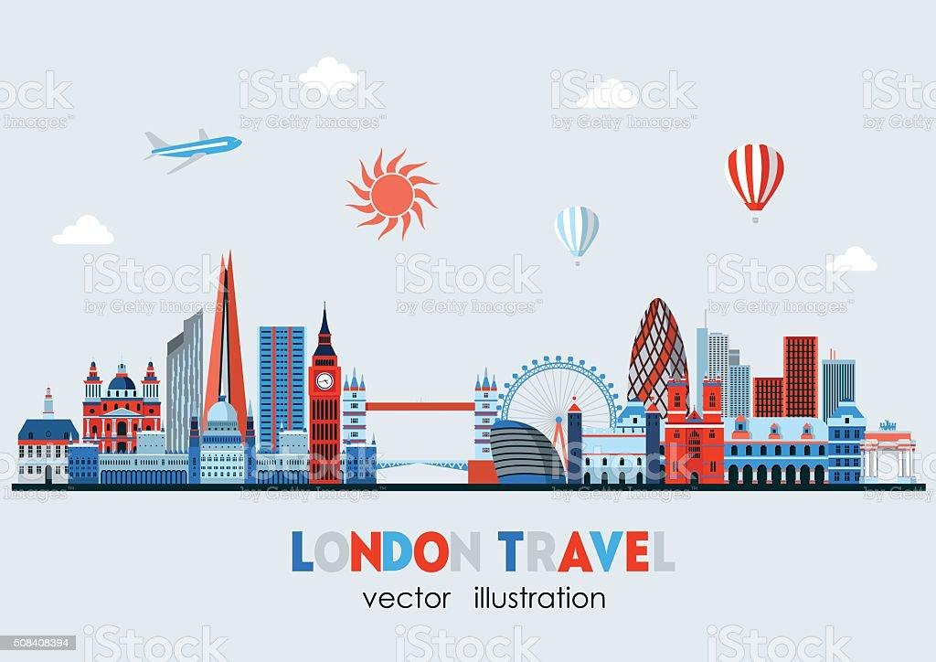 London detailed Skyline. Vector illustration vector art illustration